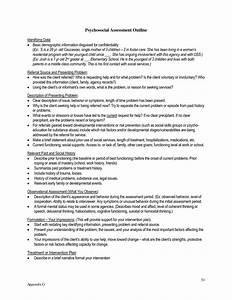 biopsychosocial assessment social work example online With social work psychosocial assessment template