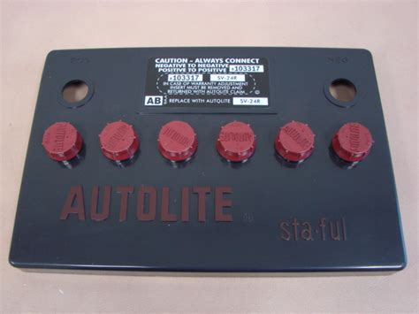mac  autolite battery cover group