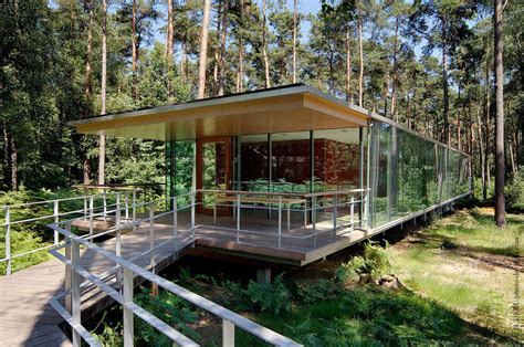 glass forest house see though glass box house has best views of the forest Glass Forest House