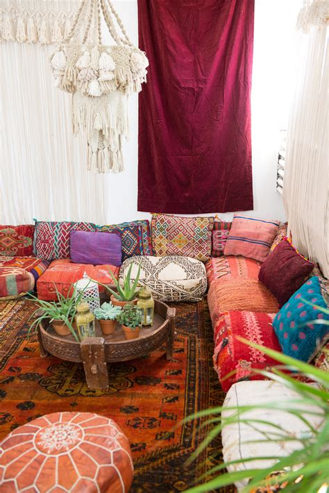 Room Decor Pillows by A Cozy Moroccan Corner Patina Boho Bungalow In