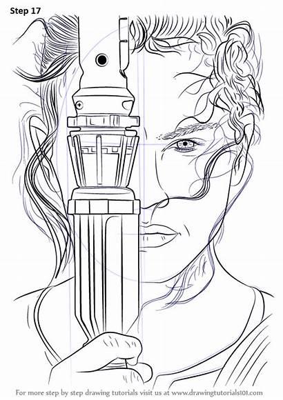 Wars Rey Star Draw Step Force Drawing