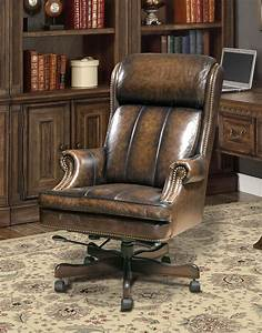 Black, Brown, Wipe, Leather, Desk, Chair, From, Parker, Living