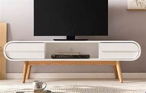 Tv Board Vintage : salesfever tv lowboard mit 2 schubladen und fach im retro style anniki online kaufen otto ~ Markanthonyermac.com Haus und Dekorationen
