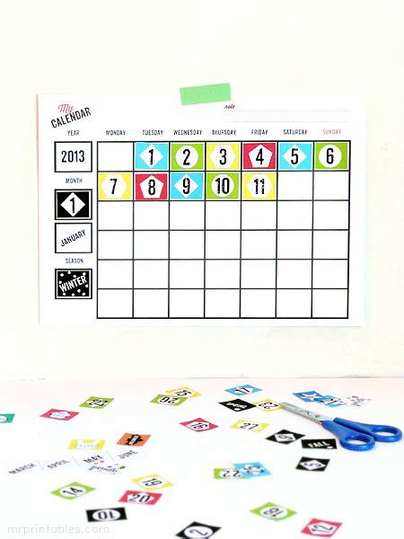 printable blank calendars  printables