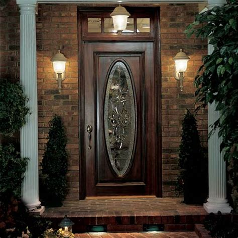 front door exterior lighting right where you need it