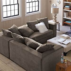West elm sectional traditional living room decor with for West elm sectional sofa brown