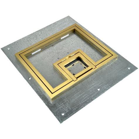 fsr floor boxes fl 500p fsr fl 500p b c ul cover w 1 2 quot brass flange lift