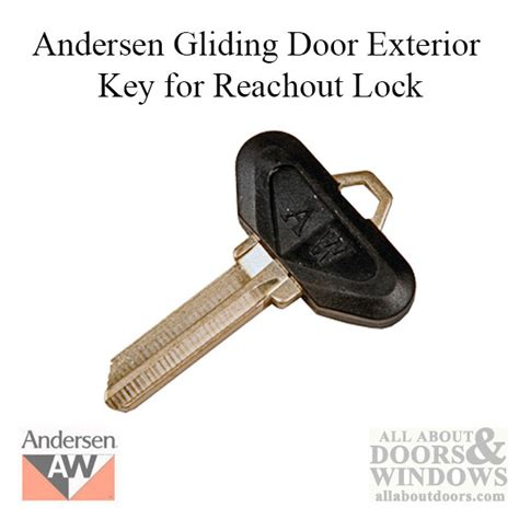 andersen frenchwood gliding door exterior key blank for