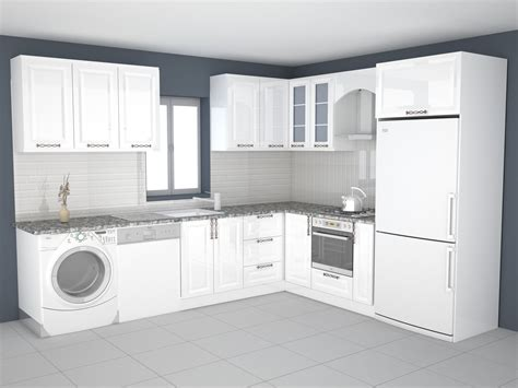 printable model kitchen design cgtrader