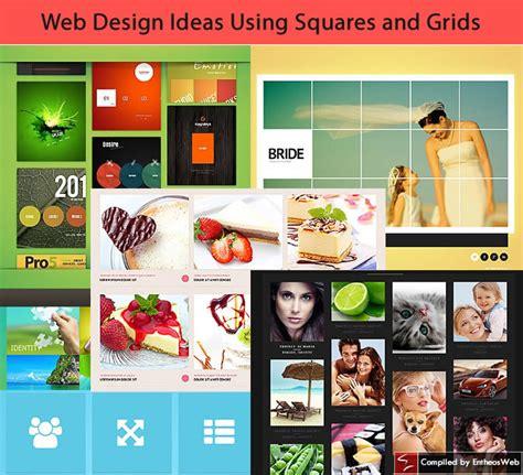 website design ideas web design ideas using squares and grids entheos