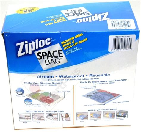 ziploc vaccum bags 15 original ziploc space saver vacuum storage bag set