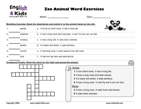 zoo worksheets 3rd grade number names worksheets 187 zoo animals worksheets free