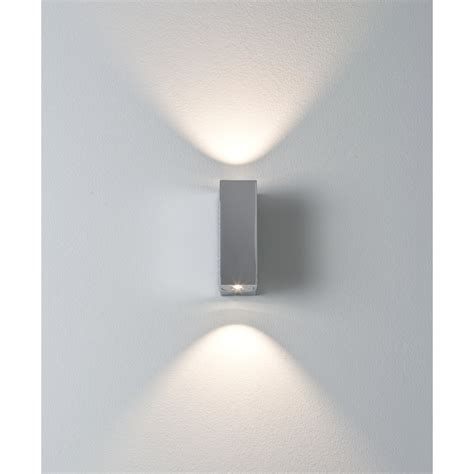 astro 0829 bloc led wall light polished chrome
