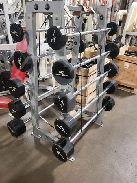 iron grip ez curl bars  rack   pro grip straight bars  rack super fitness