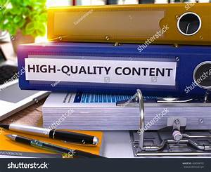 Highquality Content Blue Office Folder On Stock ...