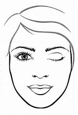 Makeup Face Coloring Pages Template Kay Mary Getcoloringpages Lipstick Polish Nail sketch template