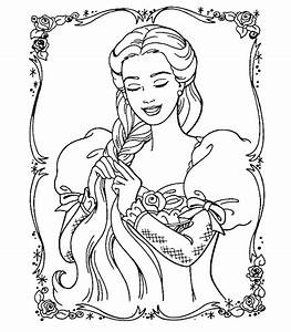 Barbie Princess Coloring Pages | Learn To Coloring