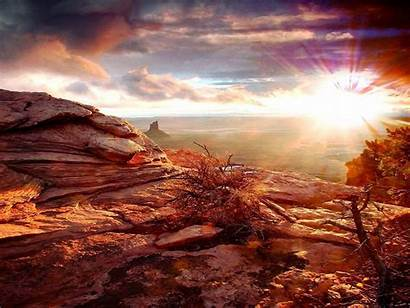 Canyon Grand Resolution Sunset Wallpapers Nature Landscape
