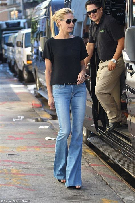 jeans  damen heidi klum strenge anzuege foto blog