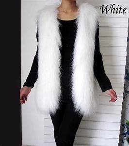 Manteau Fourrure Sans Manche : gilet femme hiver doublure fausse fourrure sans manches ~ Dallasstarsshop.com Idées de Décoration