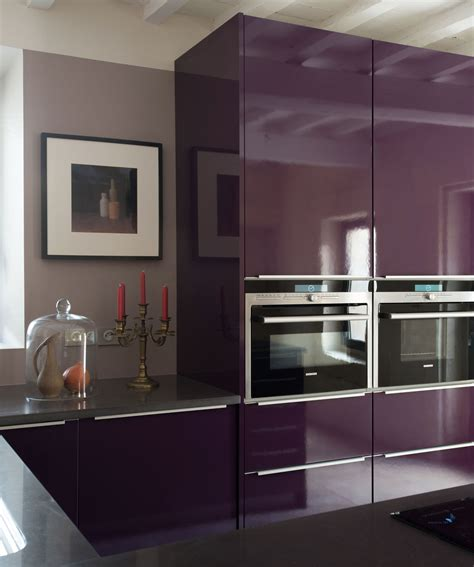 meuble cuisine aubergine