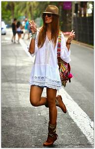 1001 idees pour creer le look boheme parfait adopter With vêtements hippie femme