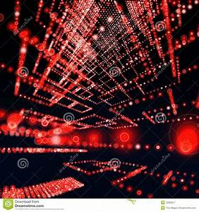 Red Matrix Sphere Background Stock Illustration - Image ...