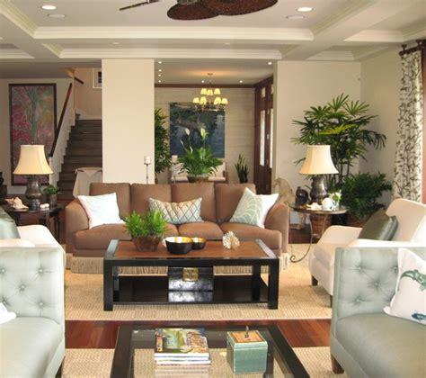 noela honolulu hawaii tropical living room orange