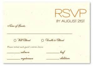 Wedding RSVP Cards Wording Samples
