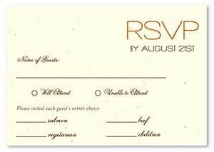 plantable paper rsvp cards on seeded paper sacred star With samples of wedding rsvp cards