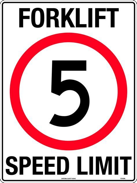 Forklift Speed Limit 5km | Uniform Safety Signs