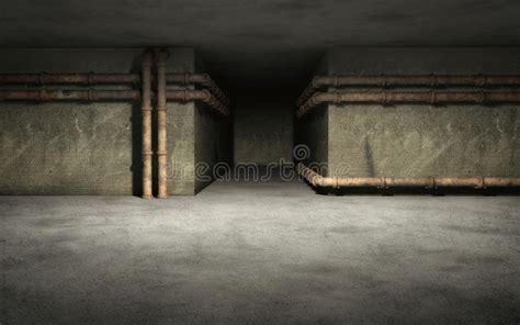 industrial basement background stock illustration