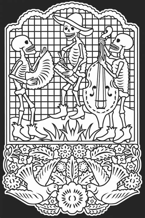 de los muertos coloring pages  printable ue