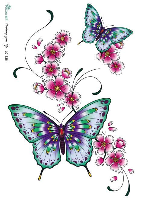 desenhos de flores  borboletas