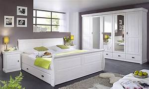 Massivholz Schlafzimmer Set Komplett 180x200 Kiefer Massiv