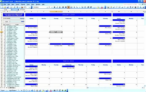 calendar template excel exceltemplates