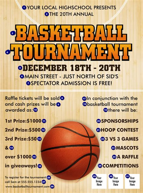 basketball flyer template free basketball court flyer ticketprinting