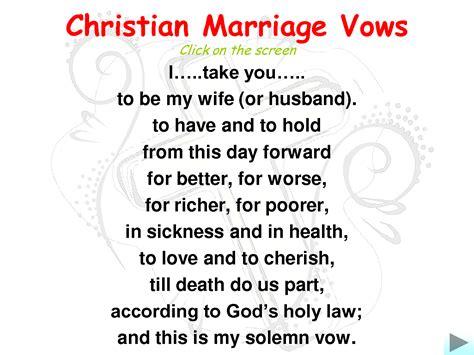 marriage wedding vows christian marriage vowsi love
