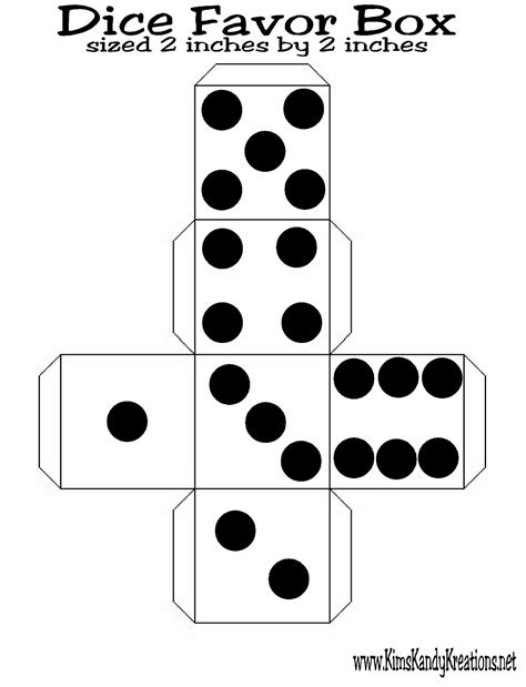 Dice Template Make 6 Sided Dice Template Free Software