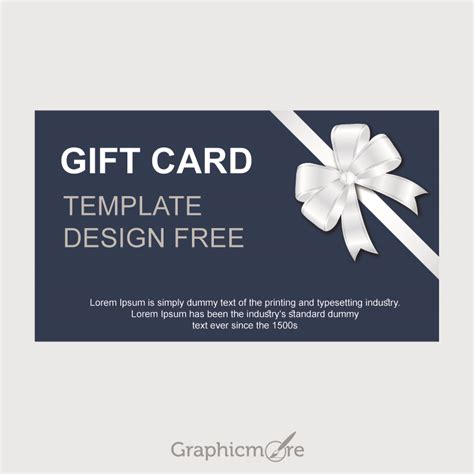 gift card template design  vector file