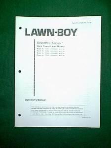 Lawn Boy Silver Series Self Propelled Mower Manual
