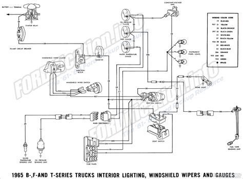 1956 Ford F100 Brake Wiring by 1965 Ford Truck Wiring Diagrams Fordification Info The