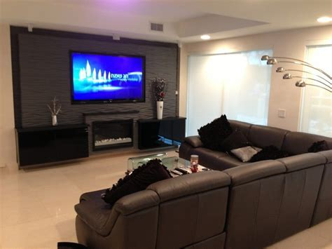 Wall Units   Contemporary   Home Theater   Miami   by
