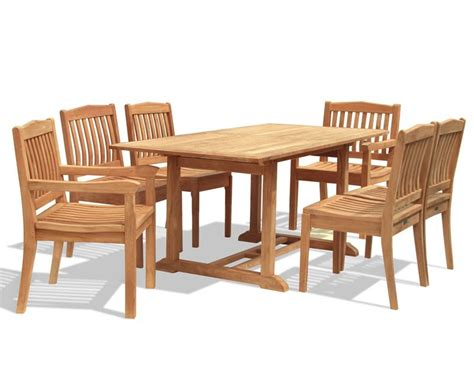 dining table set 6 seater hilgrove 6 seater garden rectangular dining table and