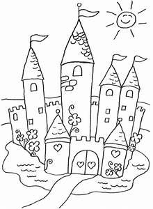 Kostenlose Malvorlage Prinzessin Mrchenschloss Zum Ausmalen