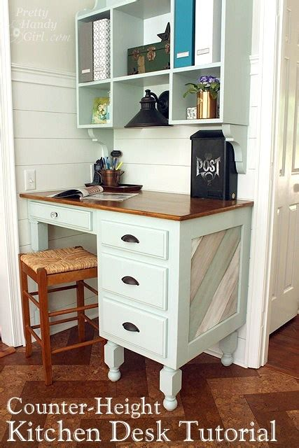 building  kitchen counter height desk lowes creator