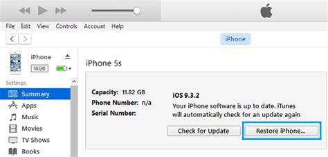how to restore iphone and using itunes
