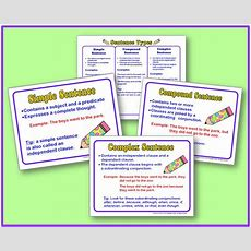 Simple, Compound, And Complex Sentence Posters  Free!  Minds In Bloom