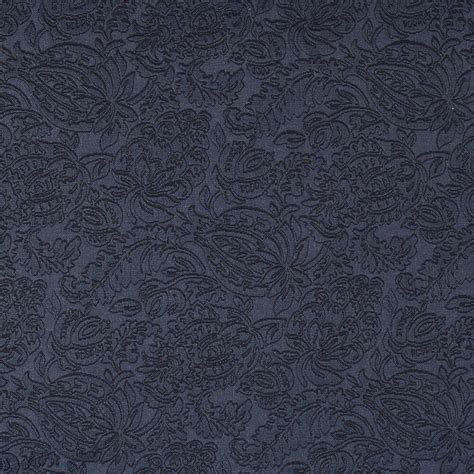 Jacquard Upholstery by E556 Blue Floral Durable Jacquard Upholstery Grade Fabric