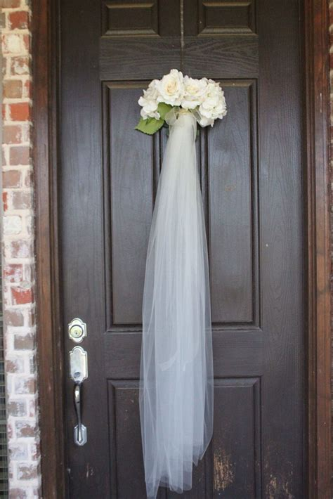 Bridal Shower Veil Wreath For The Front Door As Guest Walk